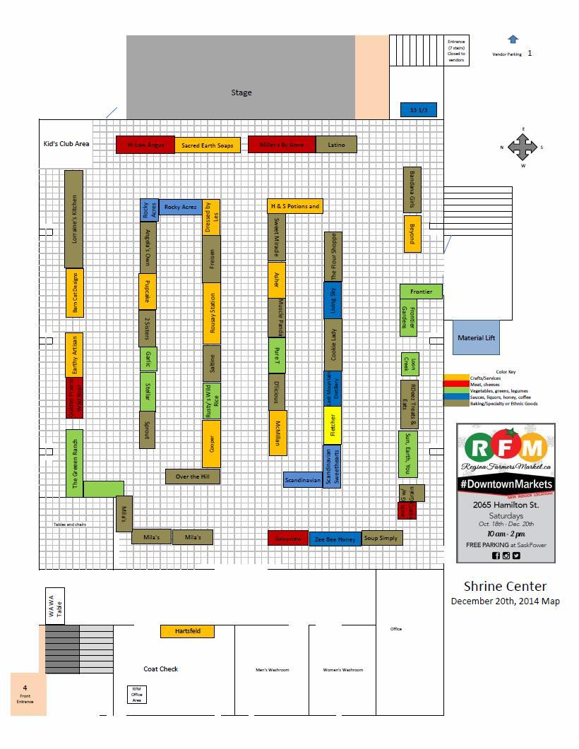 December 20th Vendor Map!  - Image 1