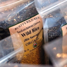 You've been asking, and now we can finally say that Rusty's Wild Rice will be back at market tomorrow with all kinds of rice products! « » If you've never had, we'd recommend the popped rice - it's got all the crunch of potato chips without all of tho