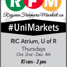 University of Regina Markets start Thursday, October 2nd, 2014!