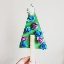 Because it's starting to feel more like winter, we think it's safe to start on holiday crafts. For RFM Kids' Club this week, we're making paper trees with clothespin trunks. The kids' craft table can be found on the lower level during our indoor market se