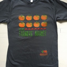 One of our market t-shirts would also make a lovely gift! We partnered with @articulateinker to have the shirts designed and printed locally. As pictured, the shirts are dark grey with orange pumpkins. They're available in sizes S - XXL. You can find them