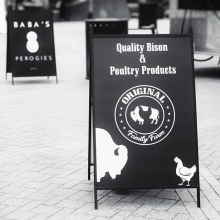 Original Family Farm now has more to offer! Shop their trailer and find new bison products (such as roast, steak, jerky, and ground bison) in addition to their other great bison and chicken options. « » #YQR #YQRdt #YQRevents #FarmersMarket #ShopSmall #