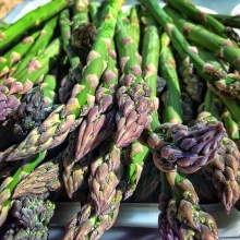 Get #asparagus while it lasts; it typically has a short season! Other spring veggies available tomorrow: « » • @floatinggardens - eggplant, tomatoes, cucumbers, herbs, greens • @heliotropefarm - asparagus, kale, spinach, green onions, lettuce, rhuba
