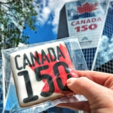 Many of our vendors are embracing Canada's 150th birthday by creating exclusive products. Some will be available all year, others just July 1. Check out these vendors tomorrow for #CanadaDay items: « » • @dlicious_treats - baked goods made with maple