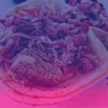 This is what we love about #MarketUnderTheStars – local food and vendor collaborations! « » @nachofiestafood is partnering with @prairiebbq to create this Prairie Smoke'n Taco for July 20 ONLY. It has Prairie Smoke's melt-in-your-mouth beef brisket,