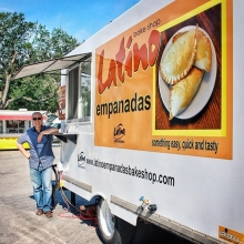 Latino Bake Shop has been a vendor since 2010, attending numerous markets, but tomorrow will be only the second market with their new food truck. Now you can have an #empanada for lunch on the Plaza! (Or breakfast, I won't stop you.) « » If you love the