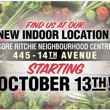 RFM News: Sept 29 Market « » The countdown is on! After 55 markets to date in 2018 (nine spring indoor markets, 42 outdoor markets, and four Markets Under the Stars!), there are only three outdoor markets remaining before we move inside to our brand new