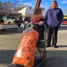 How to eat local through the Saskatchewan winter? Buy produce that keeps... lots of it!< > Our friends from Southland Colony can hook you up. They are joining us at market today with 50 lb bags of Sk-grown carrots! < >FALL INDOOR MARKETS • Saturdays O