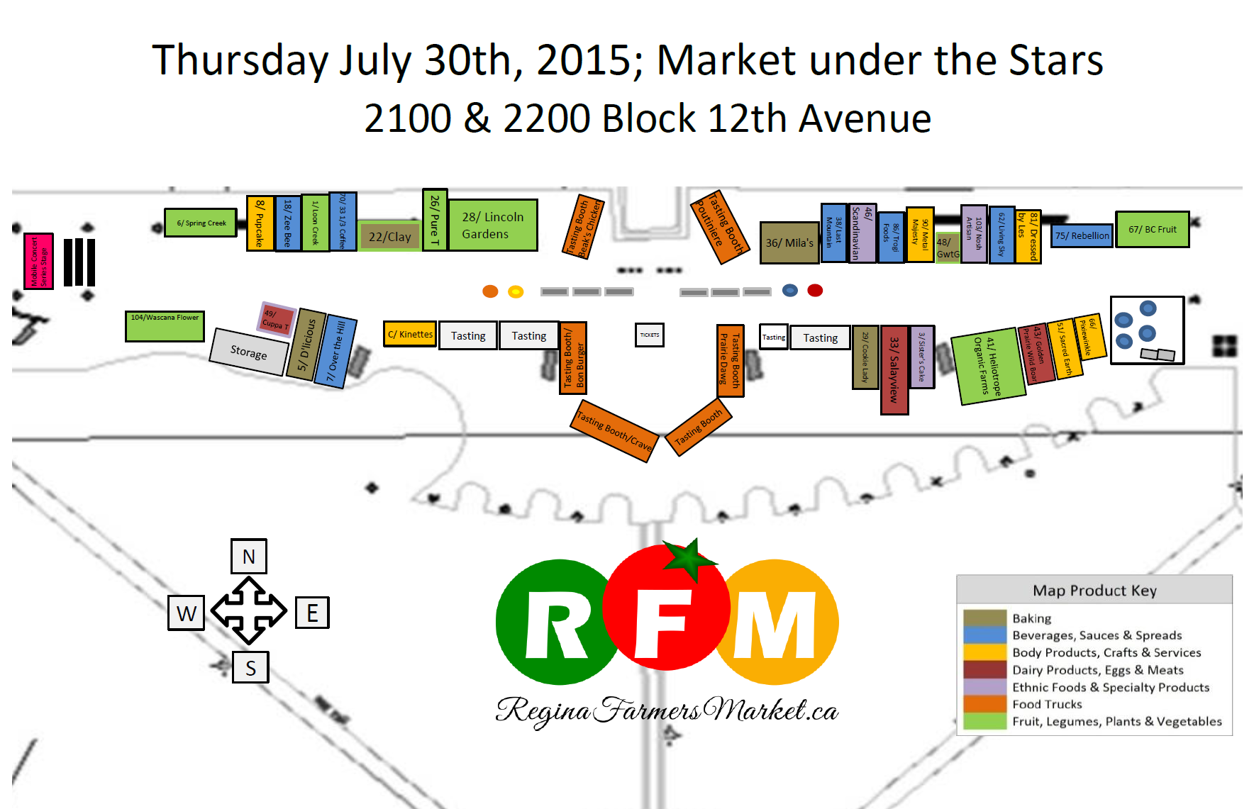 July 30th Market under the Stars Map: Eat, Drink, and Be Merry! - Image 1