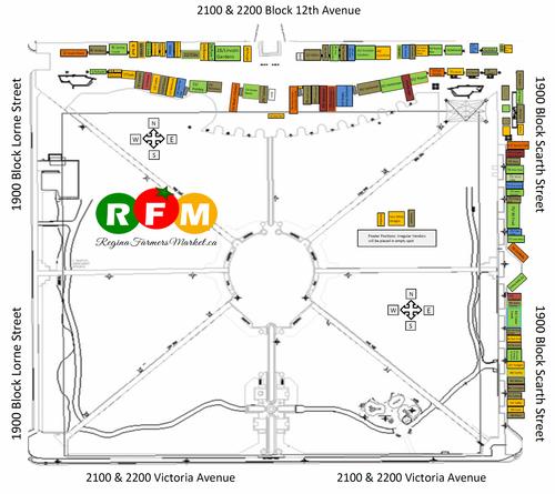 2014 Regina Farmers' Market Map