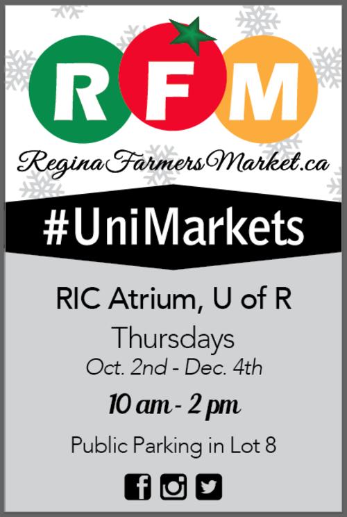 University of Regina Markets start Thursday, October 2nd, 2014!