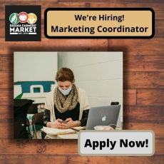 We're Hiring! Part-Time Marketing Coordinator