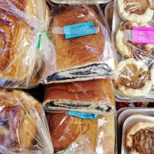 Holiday Countdown: 37 sleeps until the last farmers' market of 2018!< > Today's featured vendor: the Yorkton Bakers< >When they're not at market we hear about it all day long! Is the lady from Yorkton here? Are the people with the poppy seed rolls h