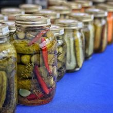 Holiday Countdown: 35 sleeps until the last farmers' market of 2018! Today's featured vendor: The Scandinavian Sweethearts< > No holiday spread is complete without a tasty array of pickles, and that's just some of what the Sweethearts have to offer! Do